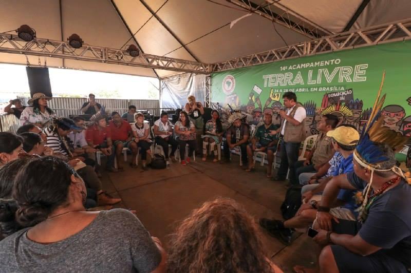 Delegação internacional escreve carta de agradecimento à APIB por Acampamento Terra Livre