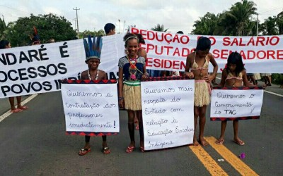 Guajajaras blocked BR 316 in defense of the indigenous rights