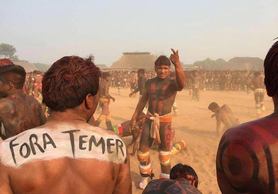 Michel Temer violenta os direitos dos povos indígenas para tentar impedir seu próprio julgamento