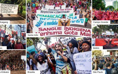 Mais de 50 atos contra o genocídio indígena acontecem nessa quinta-feira