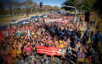 Women from over 100 brazilian indigenous nations will march on Tuesday