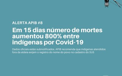 #08: Em 15 dias número de mortes aumentou 800% entre indígenas por covid-19