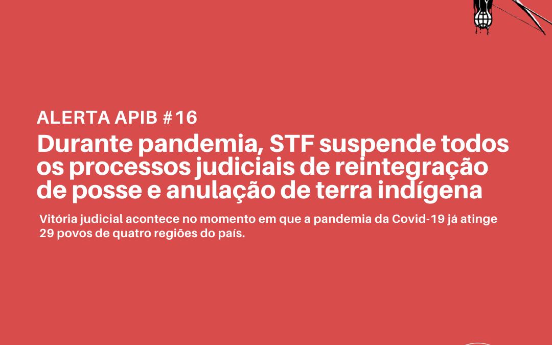#16 Durante pandemia, STF suspende todos os processos judiciais de reintegração de posse e anulação de terra indígena