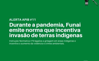#11 Durante a pandemia, Funai emite norma que incentiva invasão de terras indígenas