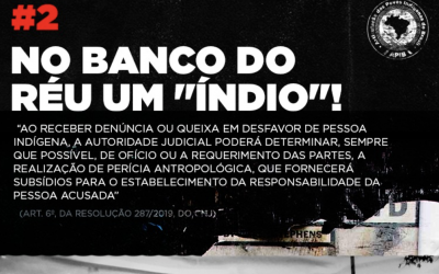 "No banco do réu um ""índio"" #2"