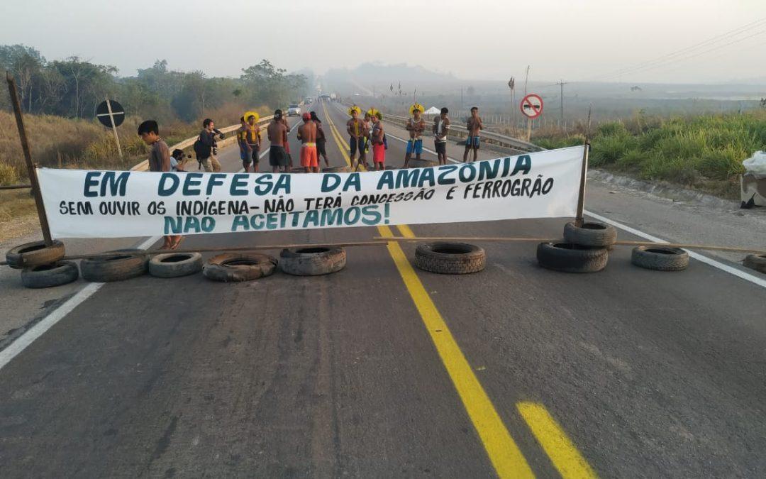 """Solidariedade ao povo kayapó, mobilizado contra o Projeto """"Ferrogrão"""""""