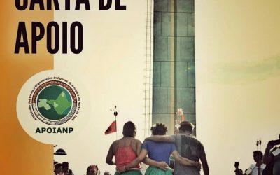 Carta de apoio ao Movimento Indígena e a nossa Liderança Sônia Guajajara