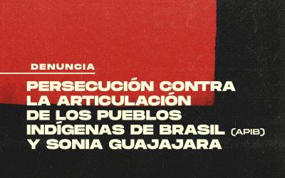 El Gobierno Federal Brasileño persigue e intenta silenciar a la APIB Articulación de los Pueblos Indígenas de Brasil y a Sonia Guajajara