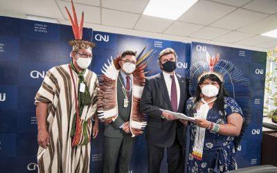 Presidente do STF recebe Carta de lideranças da Apib em defesa das terras indígenas