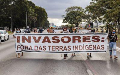 Movimento indígena realiza protesto em frente à sede da ANM contra mineração em territórios indígenas nesta quinta (17)